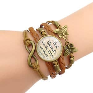 Precious Multi-Layer Best Friend Charm Bracelet