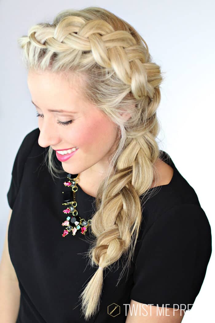 Chunky Asymmetrische Dutch Braid