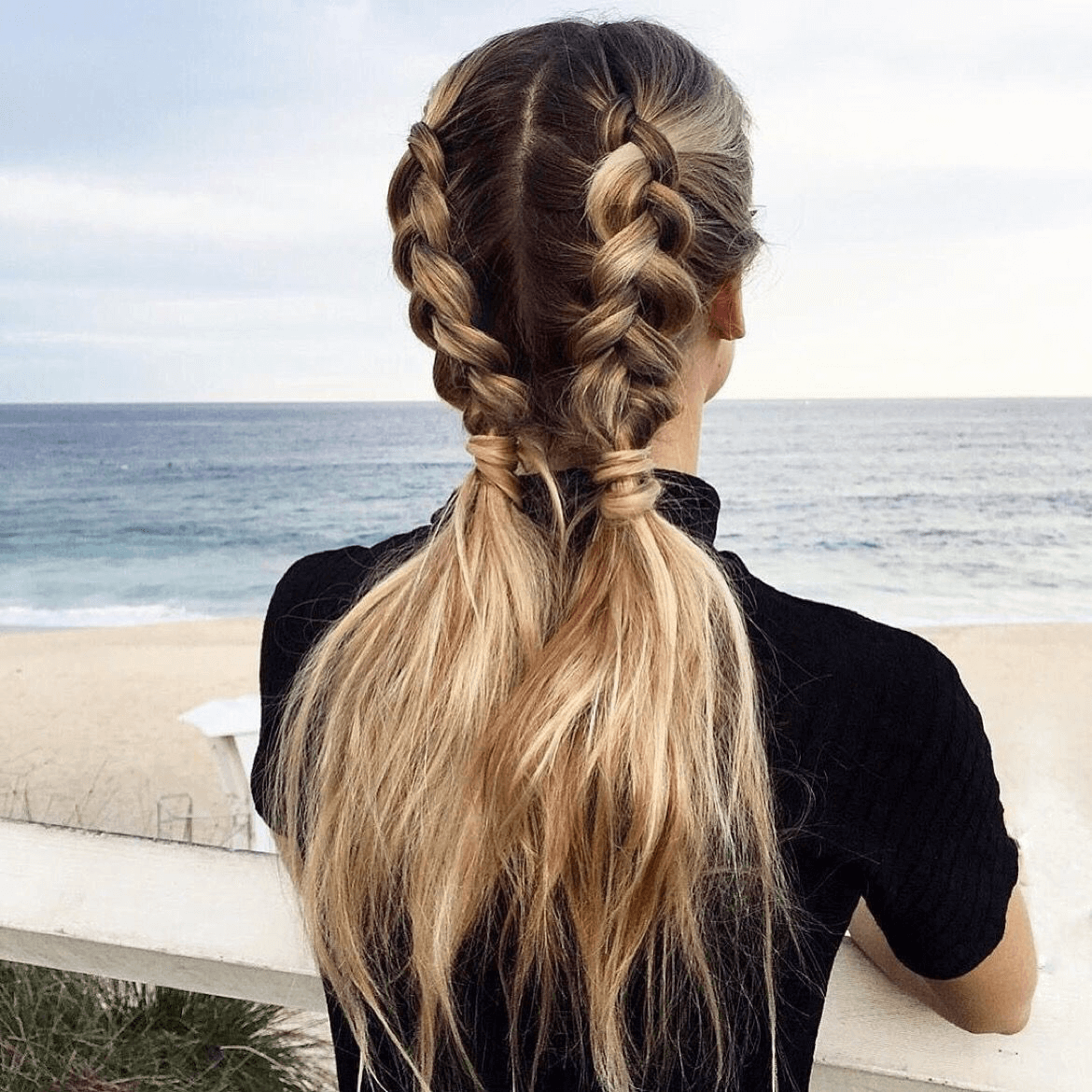 Casual and Self-Tied Double Braid