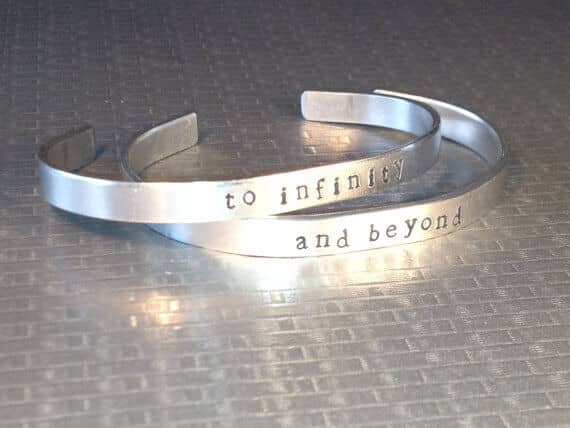 "Aluminum ""To Infinity, And Beyond"" Best Friend Jewelry"