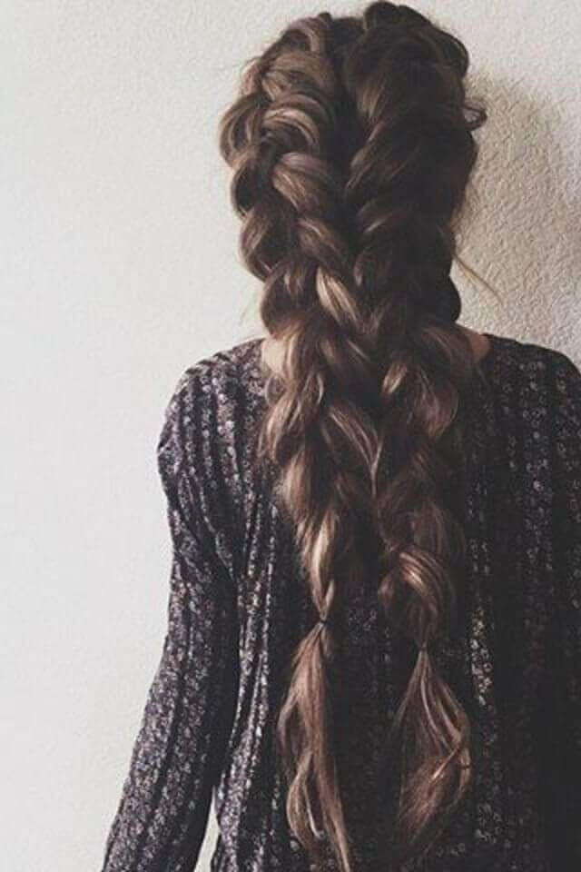 Dutch Braids So Long and Close Together!