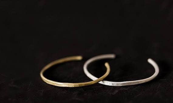 Matching Bohemian Thin Cuff Bracelets