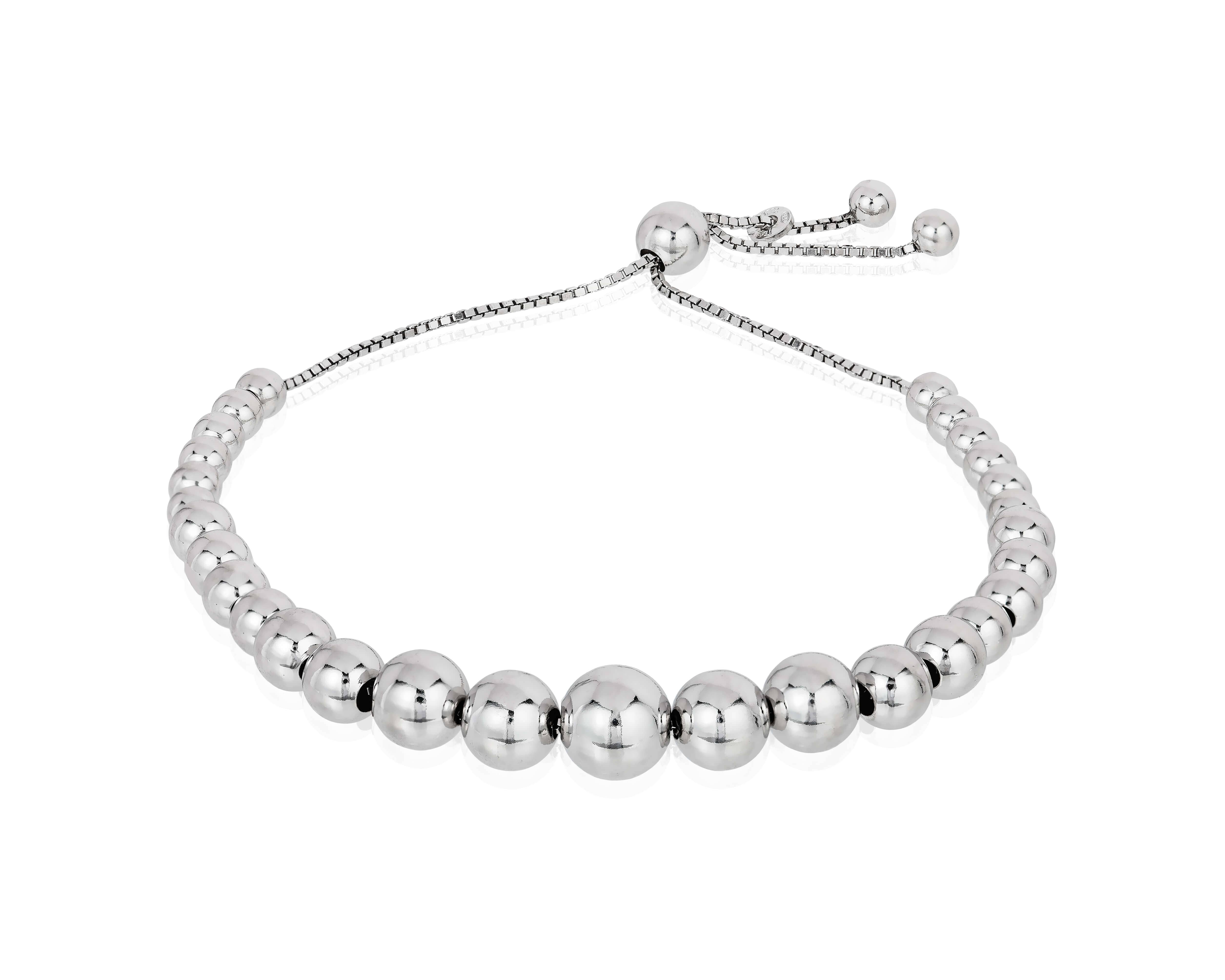 Beaded Sterling Silver Best Friend Bracelet