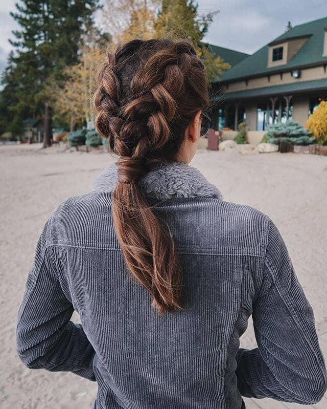 Softly Casual Two Braid/Low Pony Style