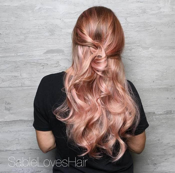 50 Irresistible Rose Gold Hair Color Looks For 2019