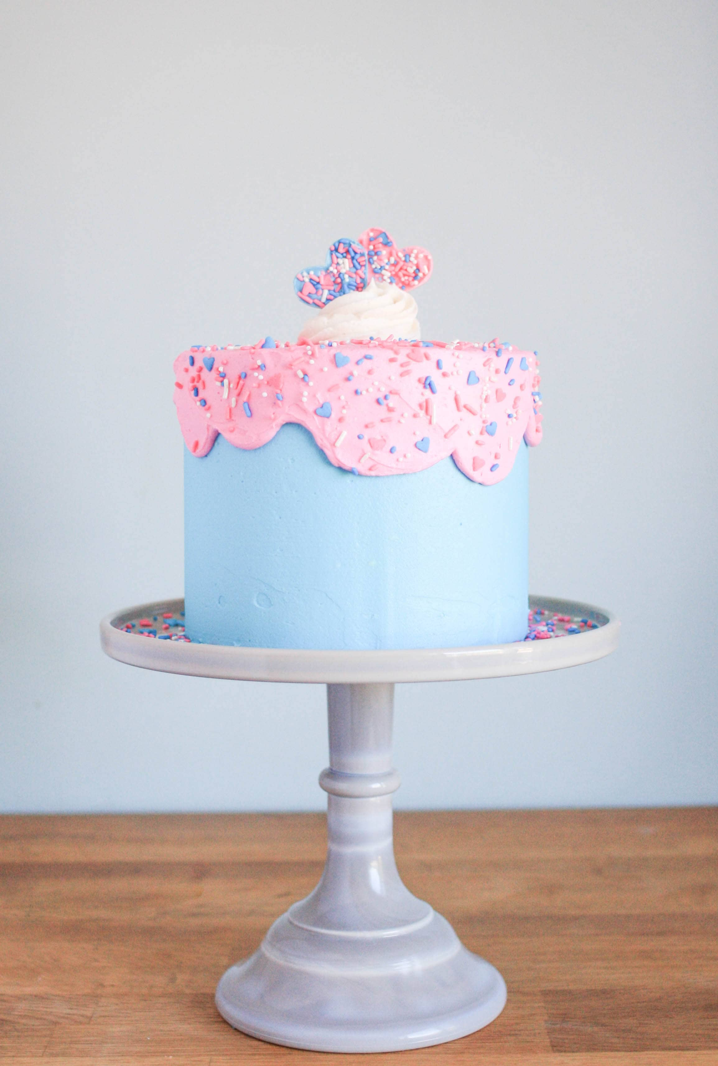 Classic Pink and Blue with Sprinkles