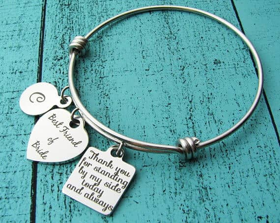 Gorgeous Friend of Bride Charm Bracelet