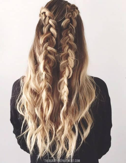 Two Braids Blend Right Into Bottom Hair