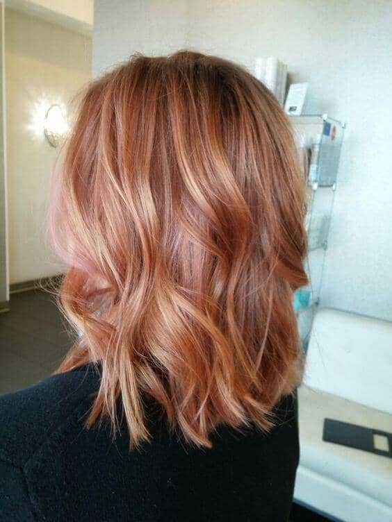 Naturally Light Redhead With Rose Gold Balayage