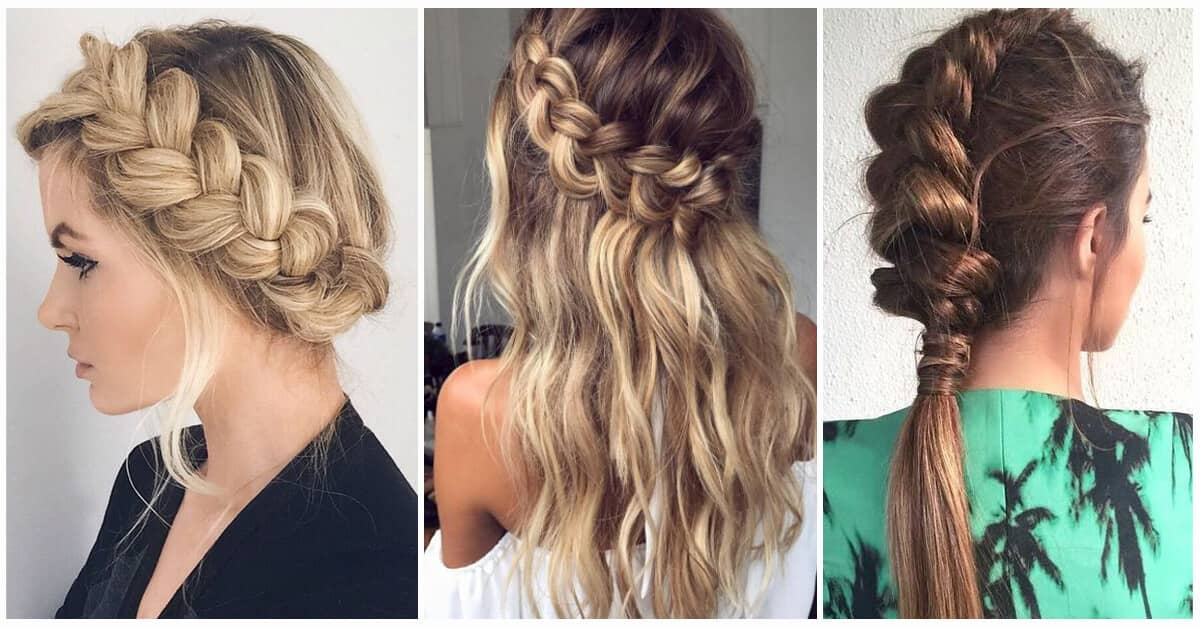 6c182d311 50 Trendy Dutch Braids Hairstyle Ideas to Keep You Cool in 2019