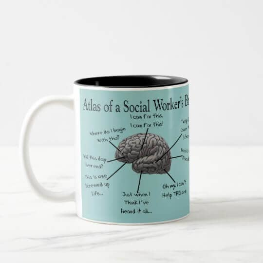 Funny Social Worker Cheap Mug