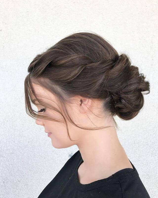 Classic Twist Updo and Chignon