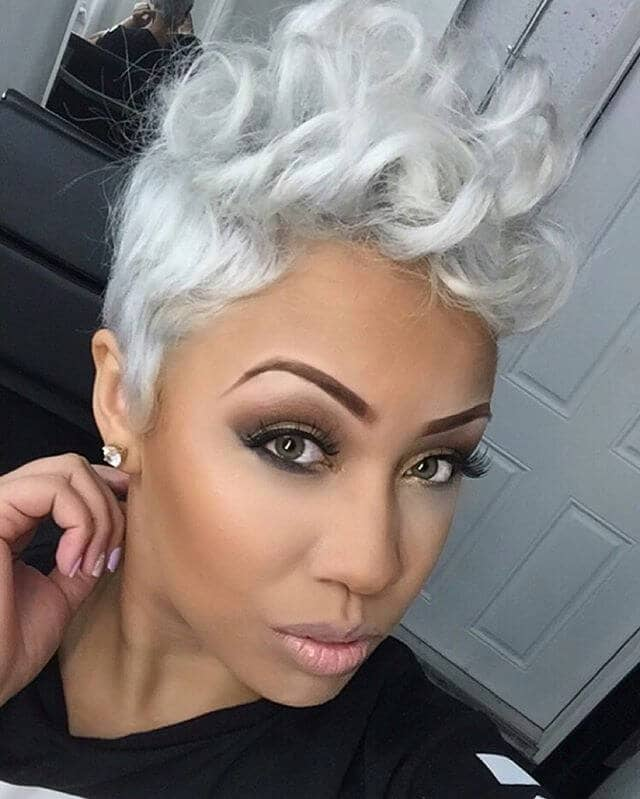 Shock Of White Pixie Style Faux Hawk