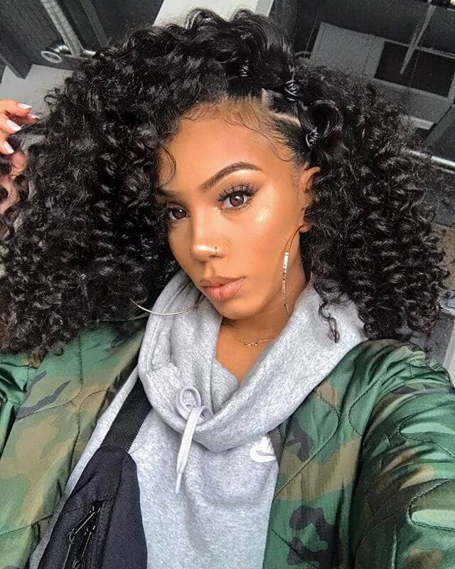 Edgy Twist Out with Exposed Cornrows