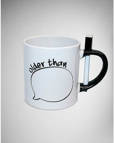 Customizable White Mug with Cool Pen