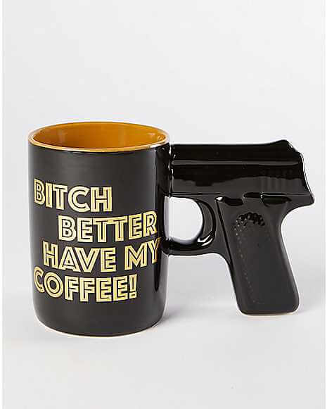 Gun Handle Ceramic Mug