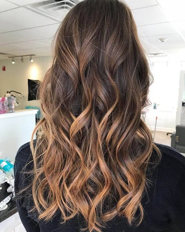 Natural Ombre With Spiral Waves