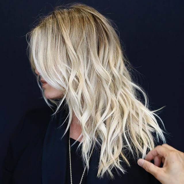 Chic Beachy Platinum Waves