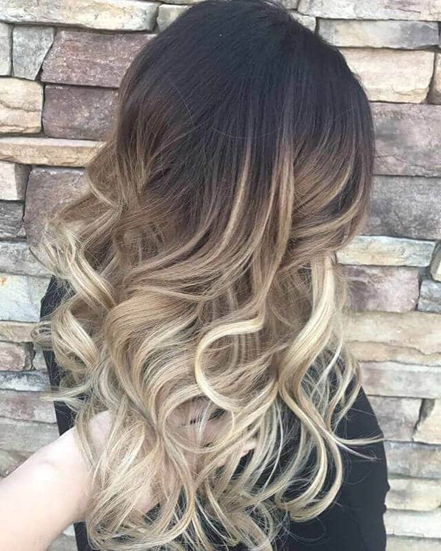 Classic Brown and Blonde Two-Toned Ombre