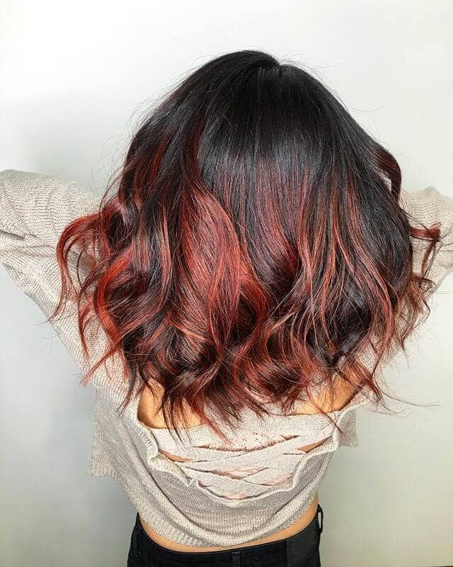 Spiced Up Red and Dark Brunette