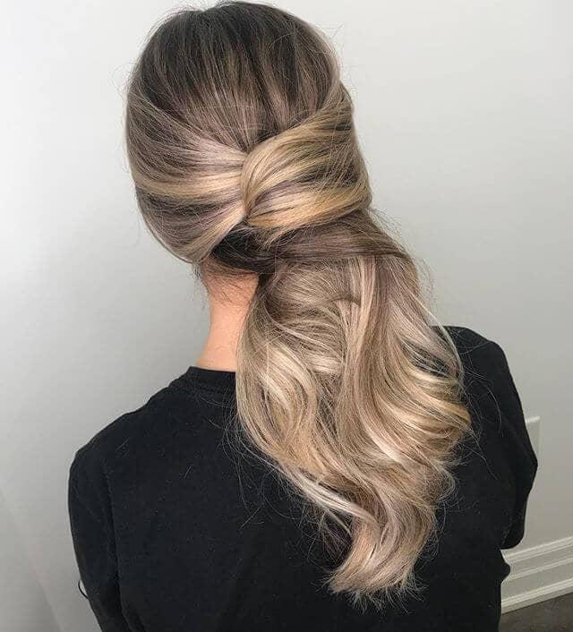 Honig Blonde lange Haare Twist
