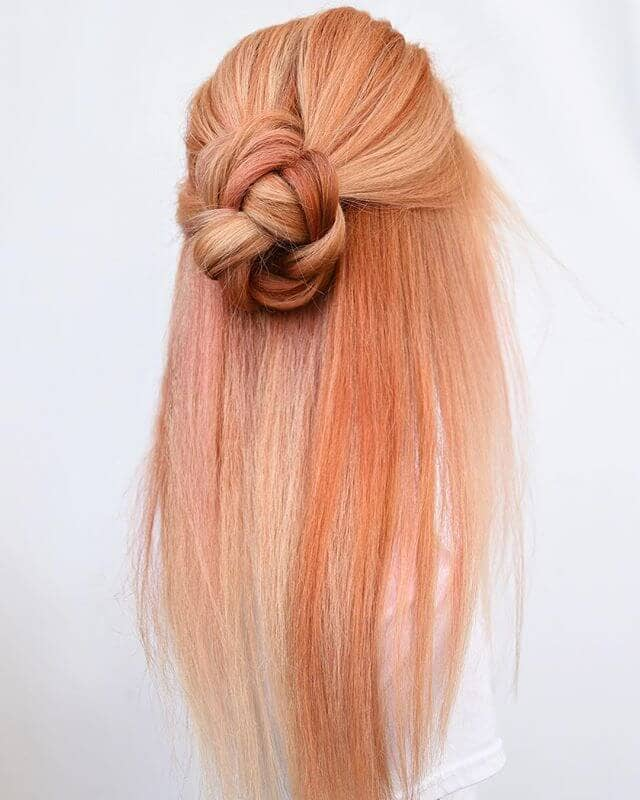 Pretty in Peach Knotted Bun