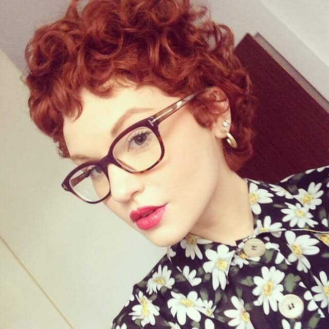 Pinup Curls In A Classic Lucy Red