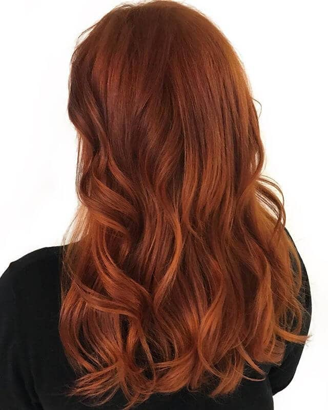Silky Long Dark Apricot Titian Hair