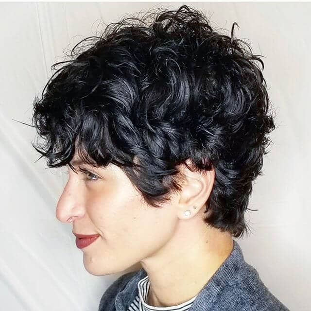 Ultra Short Ultra Curly Pixie With Texture