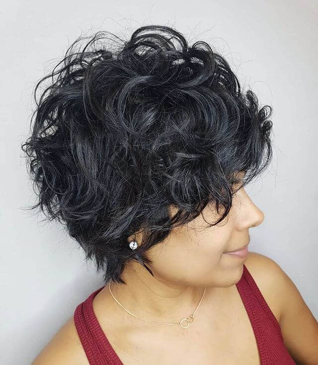 Simple Short Sexy Curly Hair