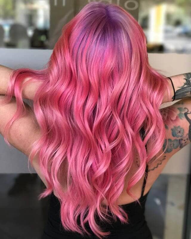 Electric Fuchsia Mermaid Waves with Lilac Roots