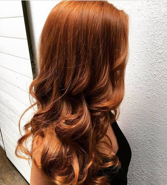 Voluminous Ginger with Golden Copper Highlights