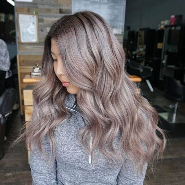 Gorgeous Gray-Toned Rose Gold Hair