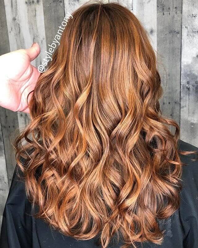 Creamy Blended Caramel Tawny Hair Color