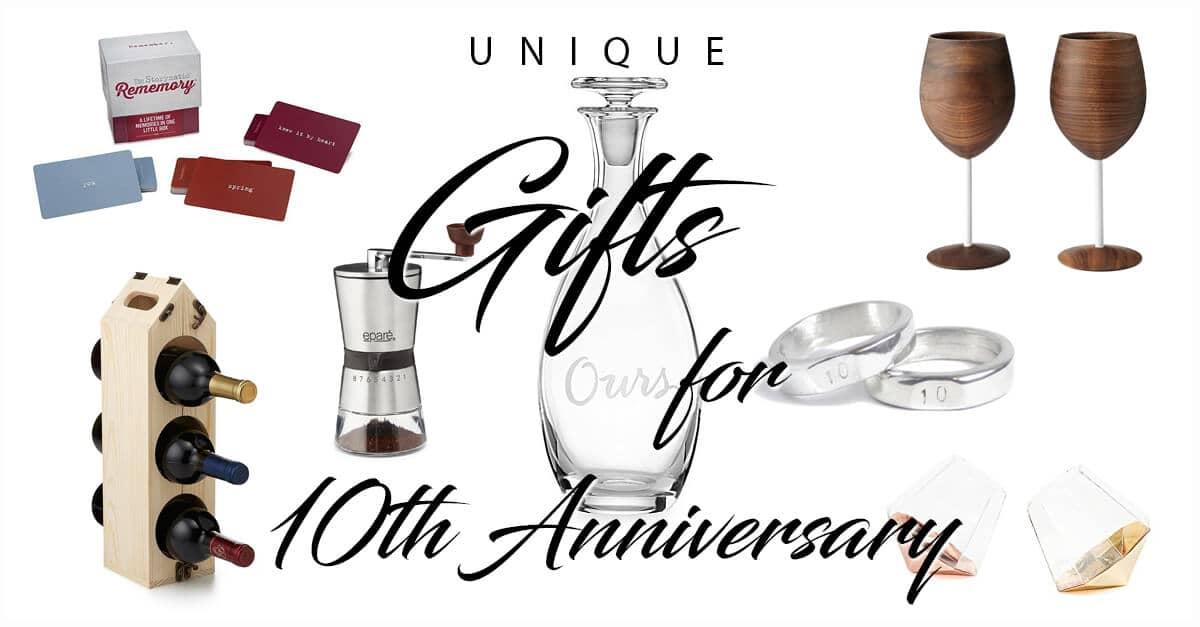 50 Best 10 Year Anniversary Gift Ideas That They Will Cherish
