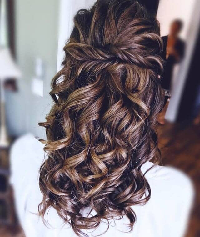 Simple Double-Twist Crown And Tousled Curls