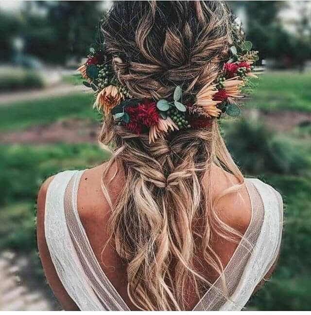 Boho Crown Pull-Through Braid With Waves
