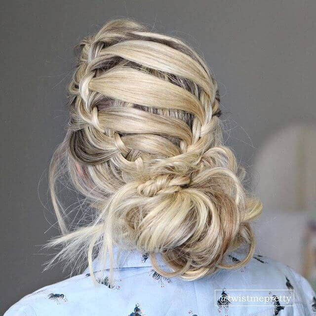 Dutch Braids With Ladder Criss-Cross
