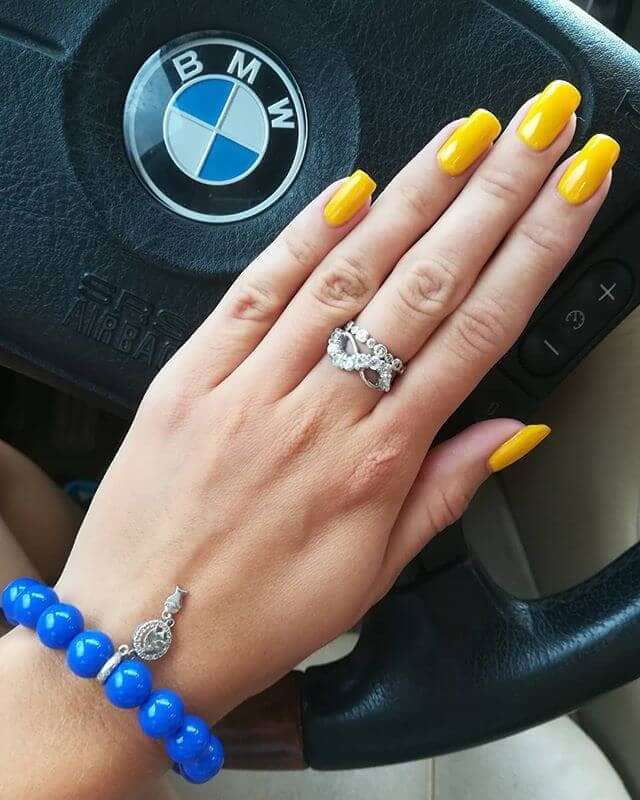 Basic and Pretty Bright Yellow Acrylics