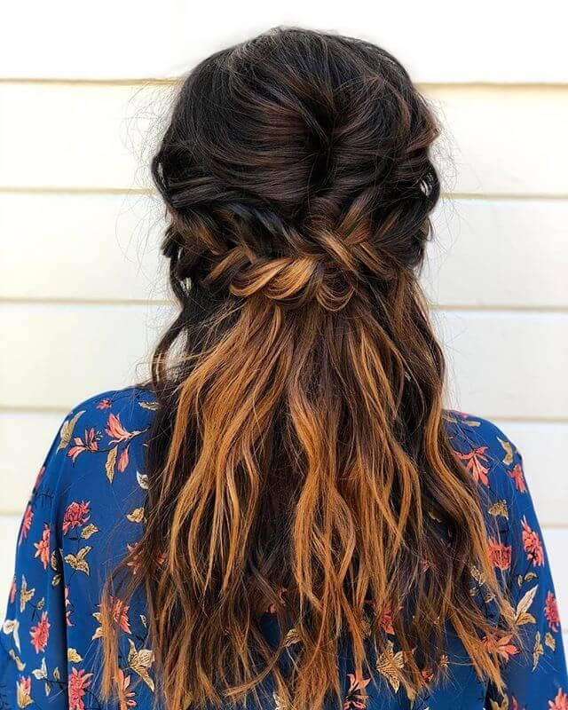 Low Cross Braid And Boho Beach Tresses