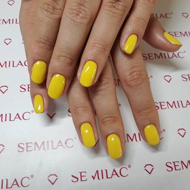 Anything But Basic Yellow Nails