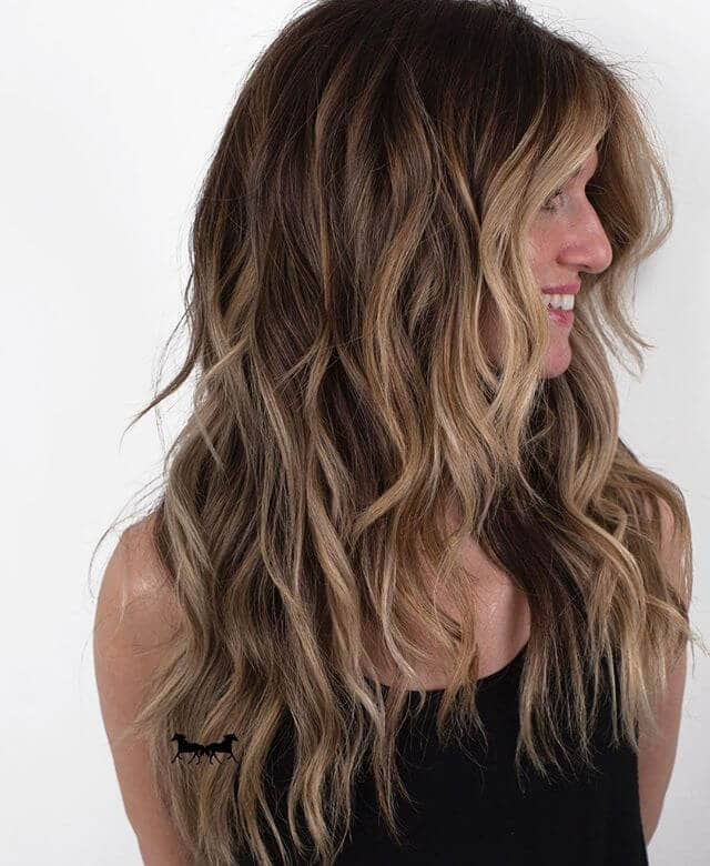 Shapely and Full Wavy Layered Shag
