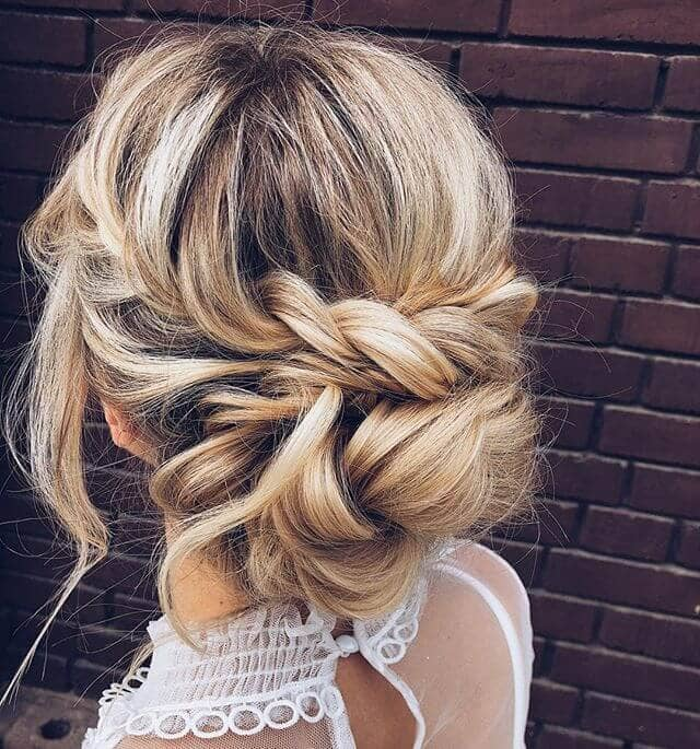Easy Loose Half-Crown Braided Wrap Bun