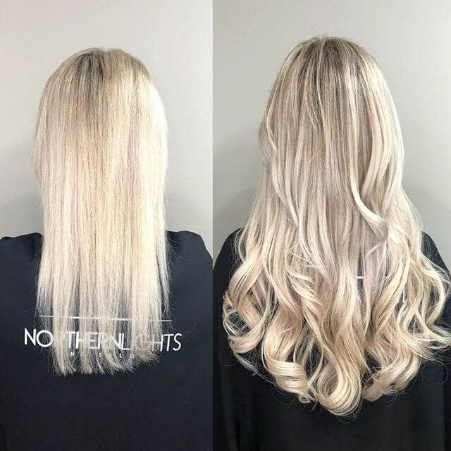 Long Blonde Layers with Gently Tossed Curls
