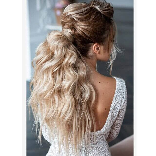 Waterfall Waves From Chunky Half-Up Ponytail