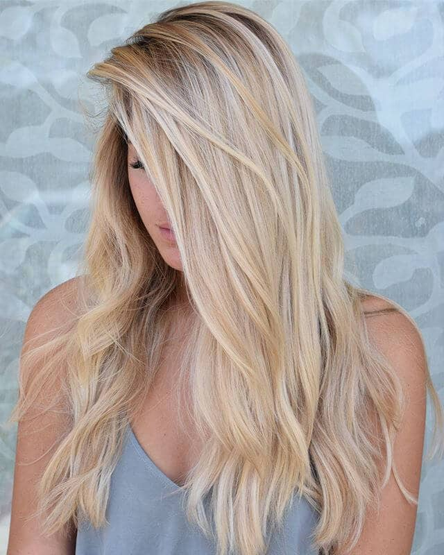 Midsummer Natural Blonde Side-Swept Layers