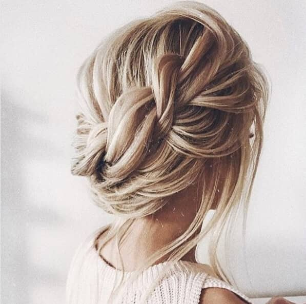 Loosely Side-Swept Romantic Rope Twist Braid