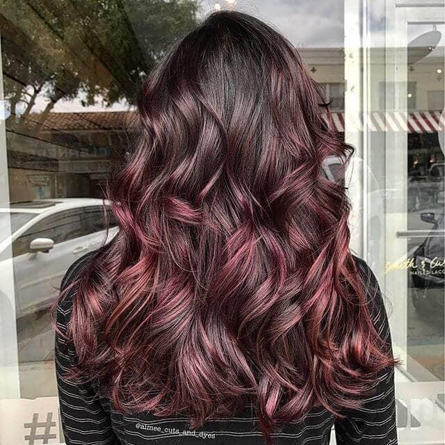 Healthy Easy Hairstyle for Burgundy Hair