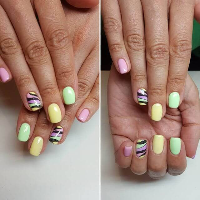 Short Sweet Nails in Candy Colors