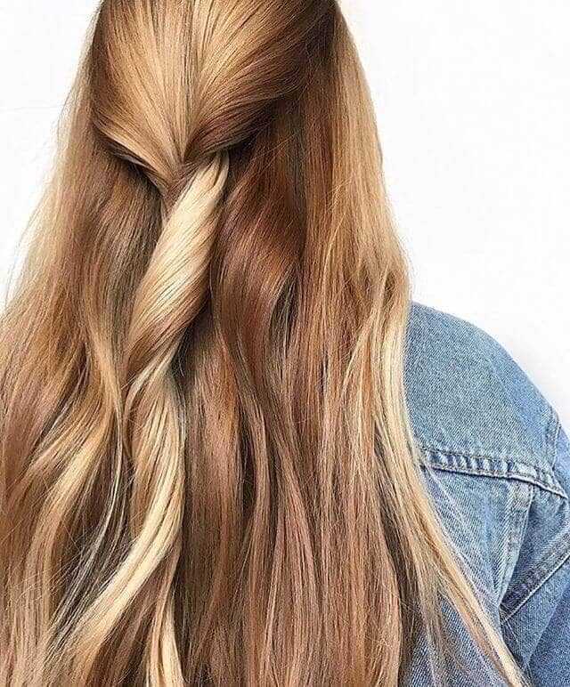Honey Blond Twist Modern Hairstyle
